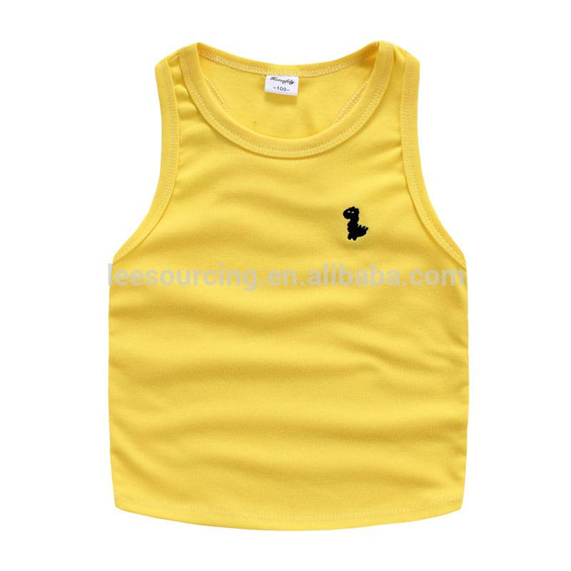 Wholesale summer sleeveless cotton boys casual children tops