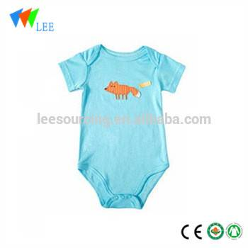 Summer super cool short sleeve newborn one-piece bodysuit printed bamboo baby romper clothes Featured Image