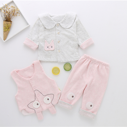 2018 Autumn Infant Clothes Suits Long Sleeve Print T-shirt and Pants 2Pcs Newborn Baby Clothing Sets