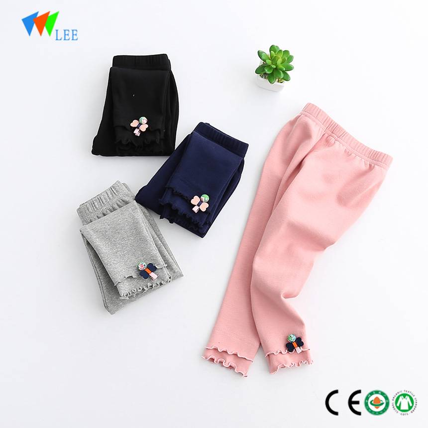 wholesale fashion child cotton leggings high quality kids leggings pant with pattern