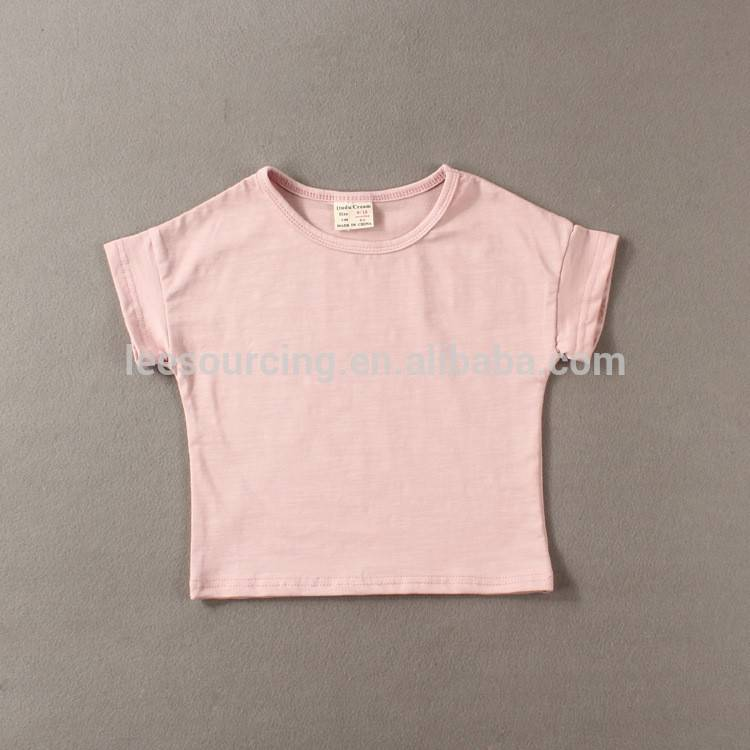 Wholesale Children Qızlar Tops Custom 100% Pambıq Blank Baby T-shirt