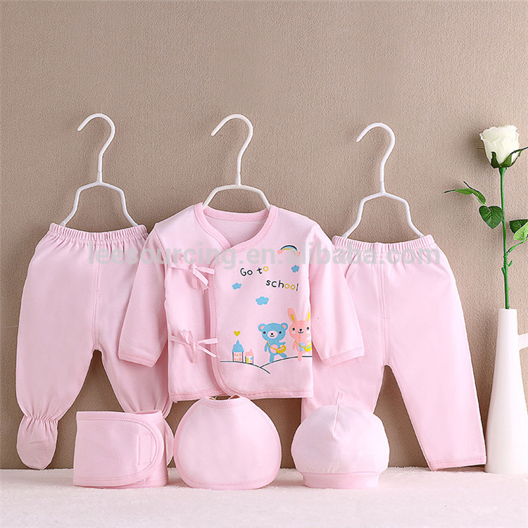 100% Cotton 7 pcs clothing set newborn baby gift set in gift sets