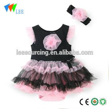 fashion newborn baby girl birthday suit romper dress