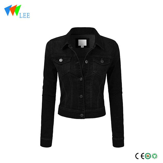 Hot classic casual vintage children black denim jacket
