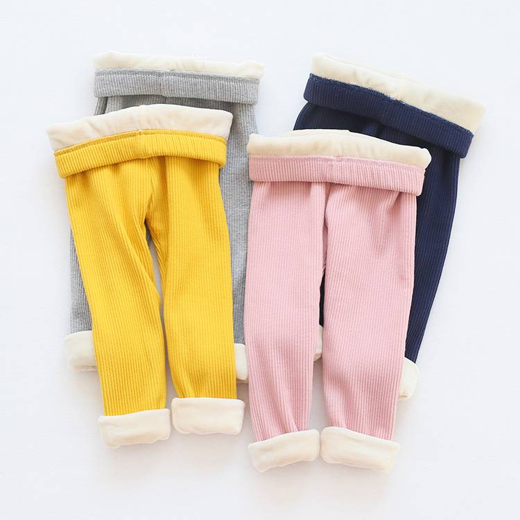 Wholesale kids ruffle pants baby casual style leggings for 1-5 years old