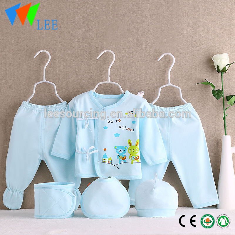 Factory Price 6pcs hot sale cotton baby clothing gift sets