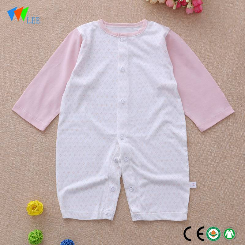 Top quality baby clothing romper organic bamboo toddler body-suit baby knitted romper wholesale