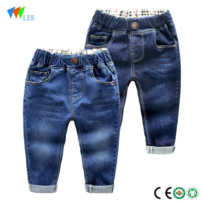 Sell well fashion kids jeans pants wholesale baby boy pants