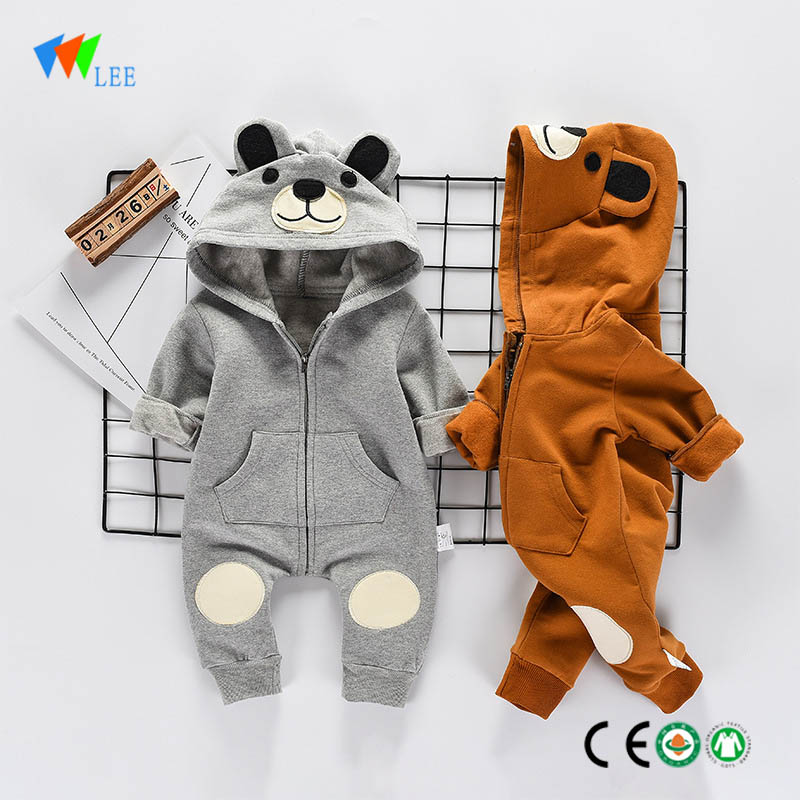 Hot sale baby clothes cartoon organic cotton new fashion plain onesie newborn custom body suit baby romper Featured Image