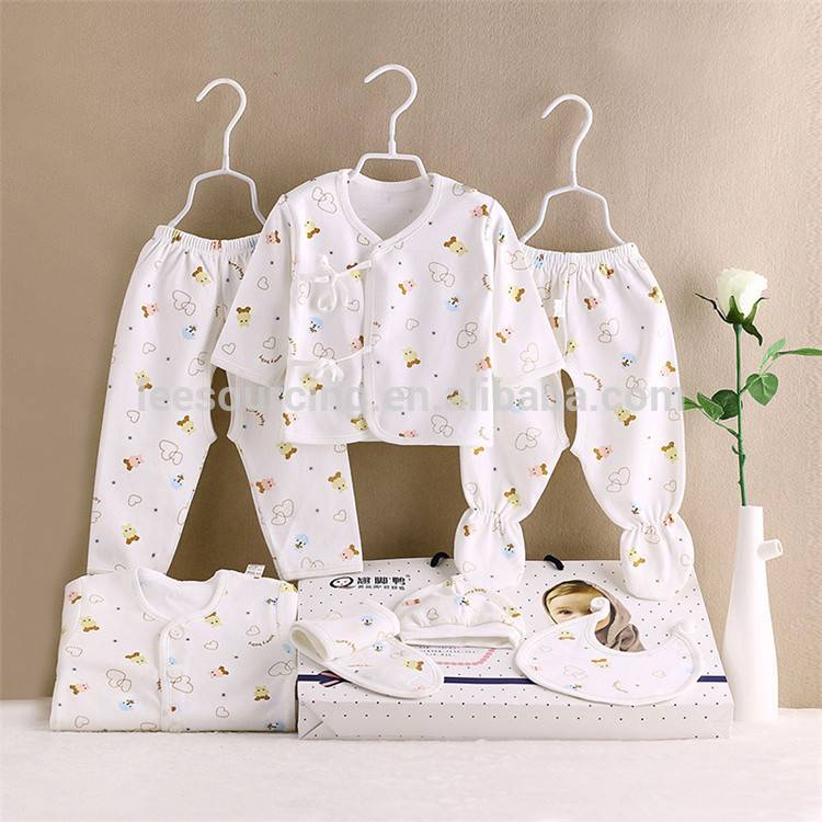 Soft Cotton Newborn Gift Baby Girl Clothing Set