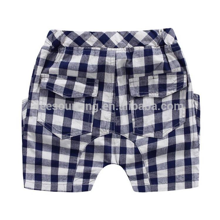 Boys Kids Summer Clothes Short Sleeve T-Shirt Tops Plaids Check Shorts Pants Set