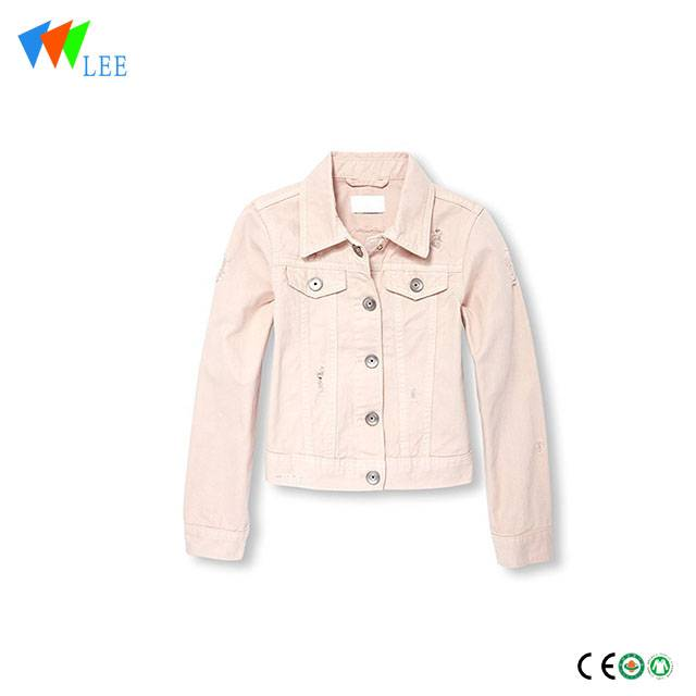 Hot selling kids girl denim jackets