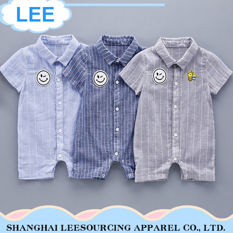 Wholesale Cartoon Printed Baby Summer Clothes Baby Bamboo Romper