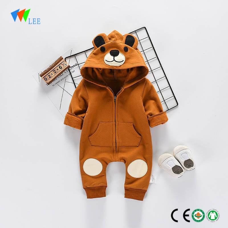 Hot sale baby clothes cartoon organic cotton new fashion plain onesie newborn custom body suit baby romper