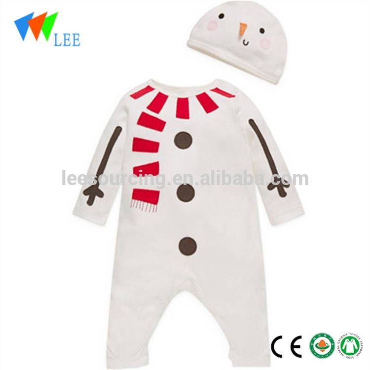 Newborn Christmas Deer Clothes Thick Cotton Winter Baby Romper