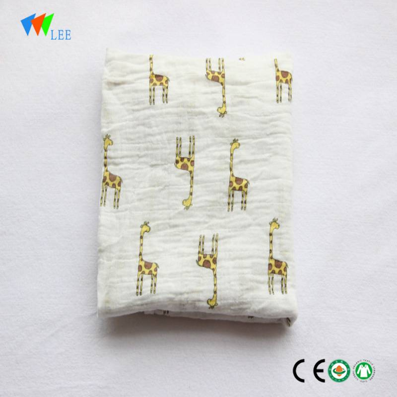 New style and  fashionable newborn baby bamboo fiber printing soft and high quality   blanket