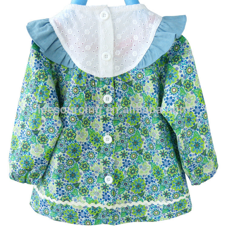 Baby girl cotton ruffle tops and pants clothes set cheap wholesale children's boutique clothing