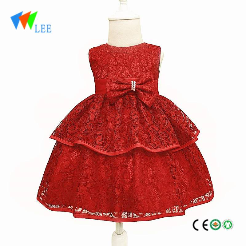 baby girls fashion party wear lace dress design