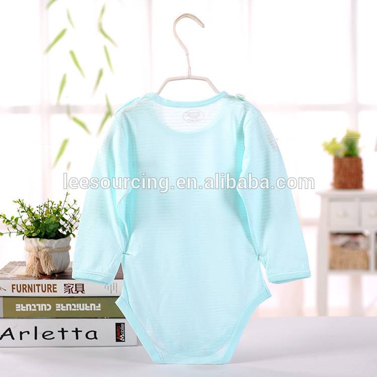 Hot selling summer baby graphic bodysuit long sleeve bamboo baby onesie