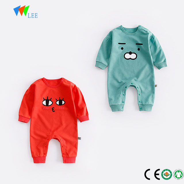 whale 100% cotton newborn baby long sleeve clothes romper
