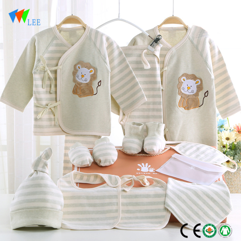 New design long-sleeved organic cotton baby rompers wholesale baby clothes