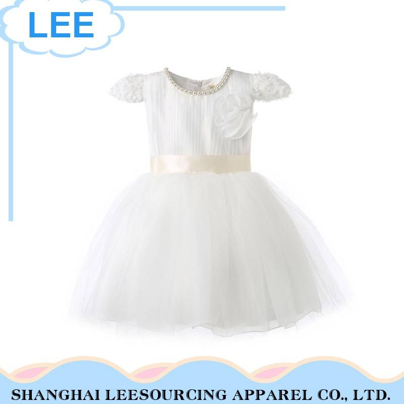 Cute Custom White Baby Girl Wear Lace Dress