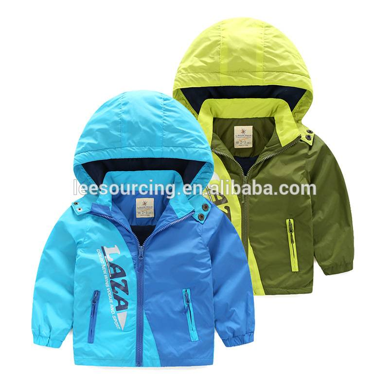 Export US fashion winter baby wear boys windproof jacket coat hoodie cotton clothes kids tops keep warm