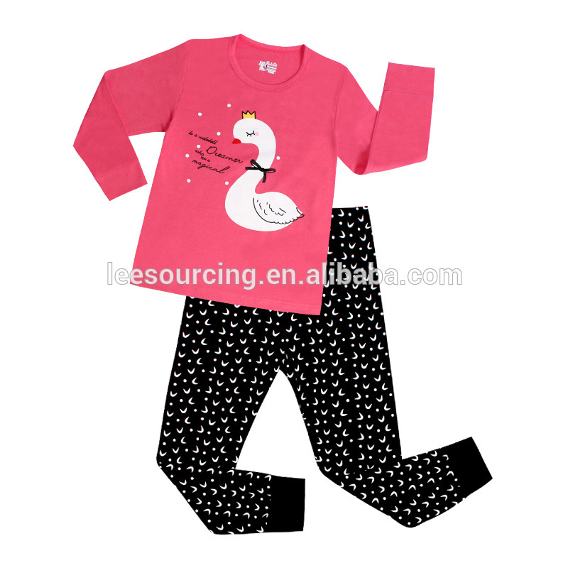 wholesale Cartoon Printed Baby Nightclothes Cotton Children Pyjamas wear clothes set