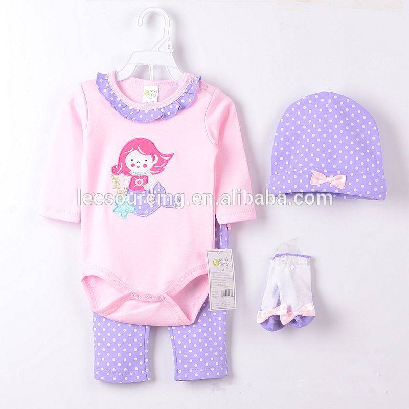 Fashion cartoon character cotton baby clothes romper set
