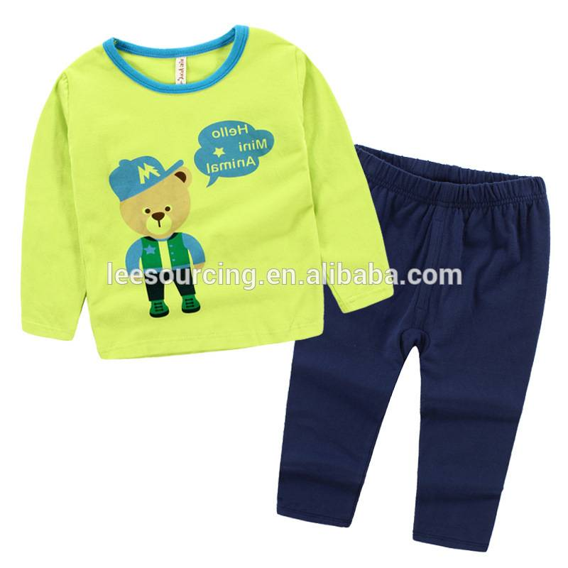 New style animal printing cotton boys pajamas children clothes set