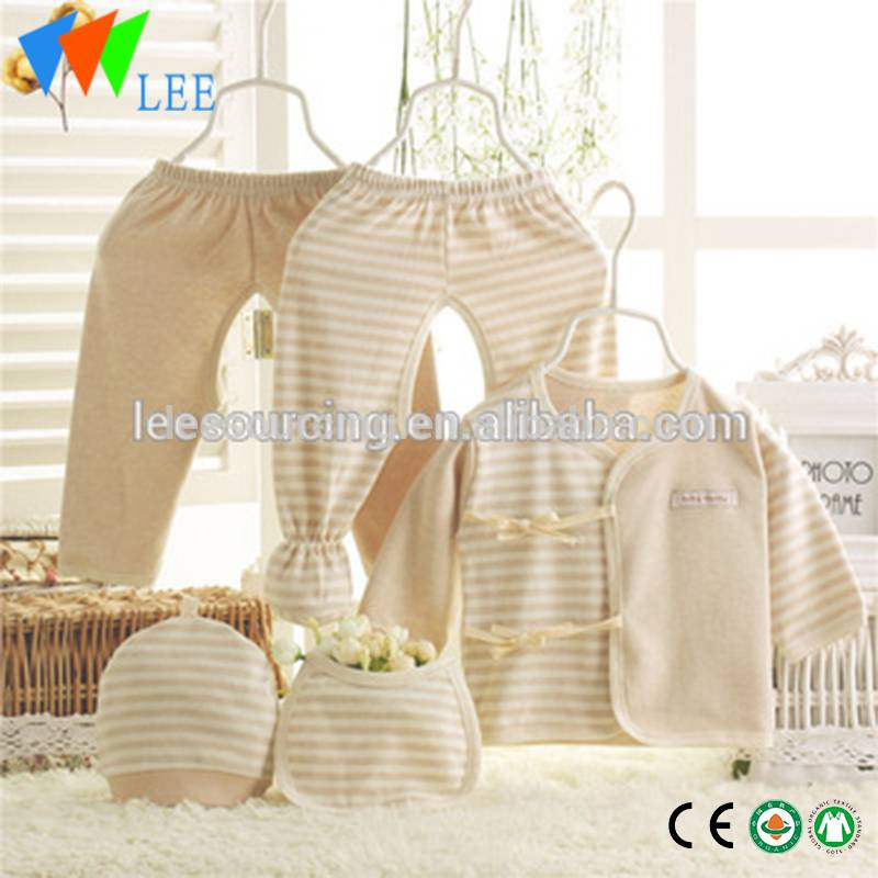 Factory price hot sale 5pcs organic cotton baby clothing gift sets