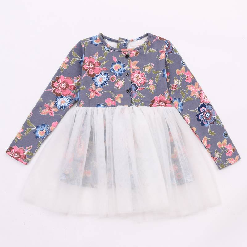 Latest designs children frocks wholesale 2-6 years Baby girl flower dress