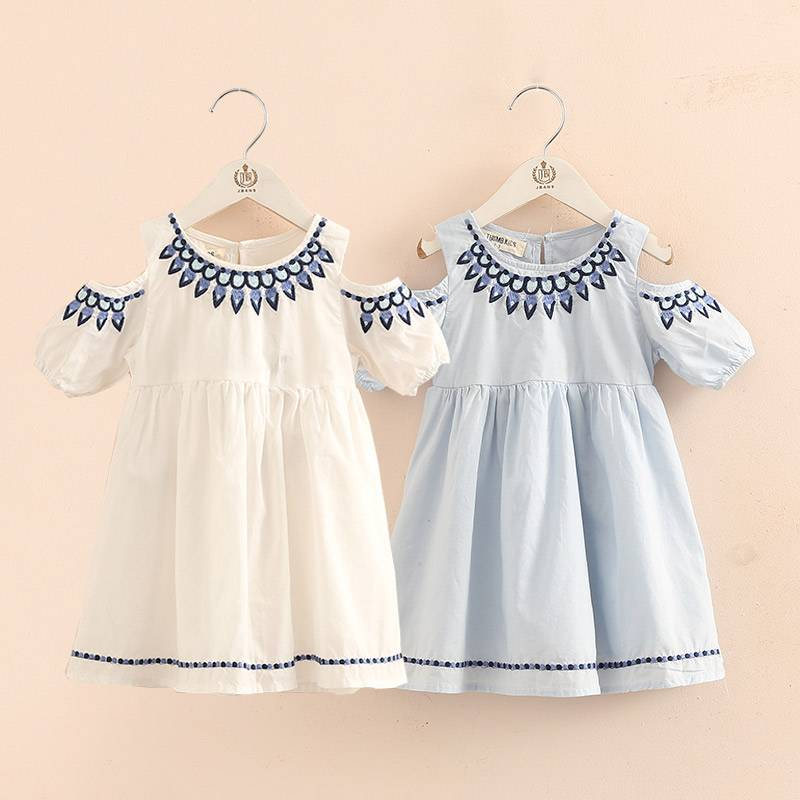 High Quality Child Clothes Soft Tulle Kid School Dress Lovely Summer Girl dress kids baby