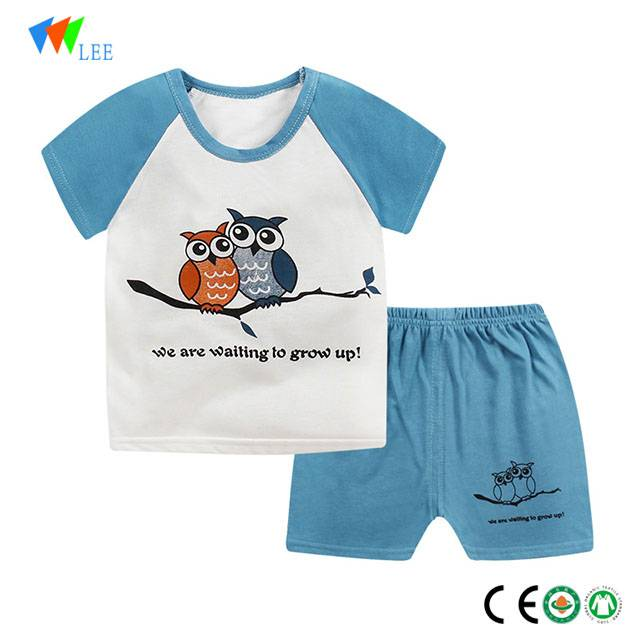 100%cotton baby boys casual clothing sets