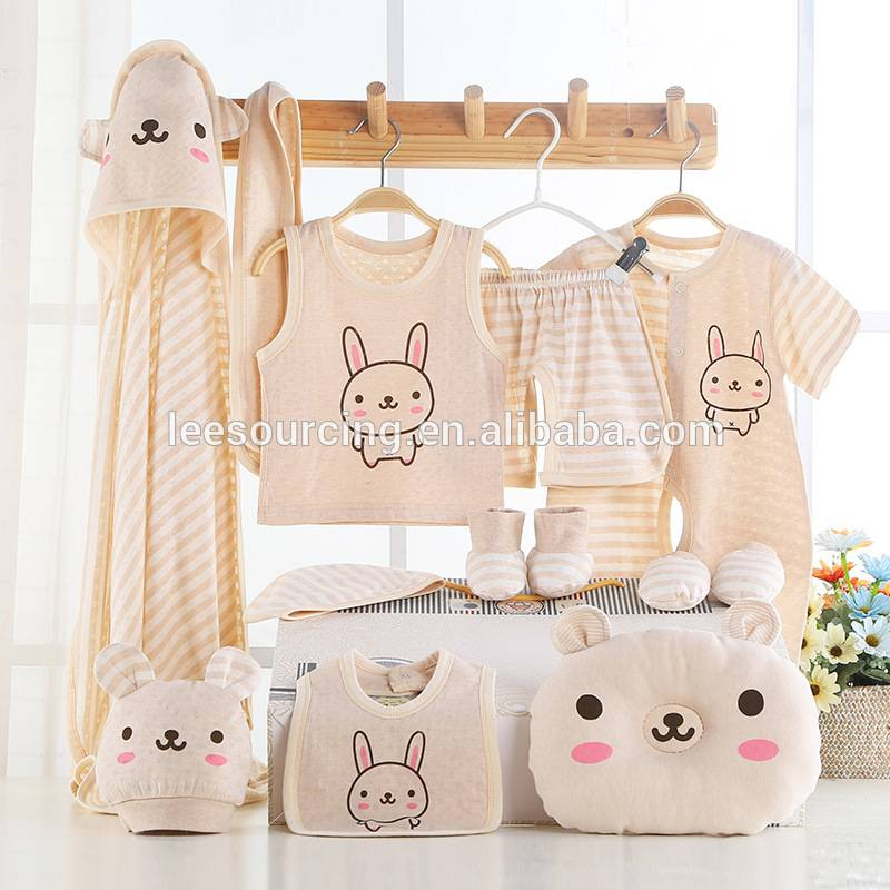 Wholesale high quality baby gift set soft baby organic clothing