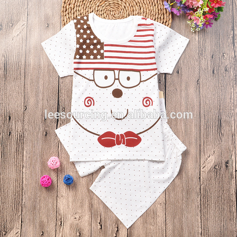 wholesale newbron baby clothing bamboo t shirt and shorts cartoon baby bamboo clothing Featured Image