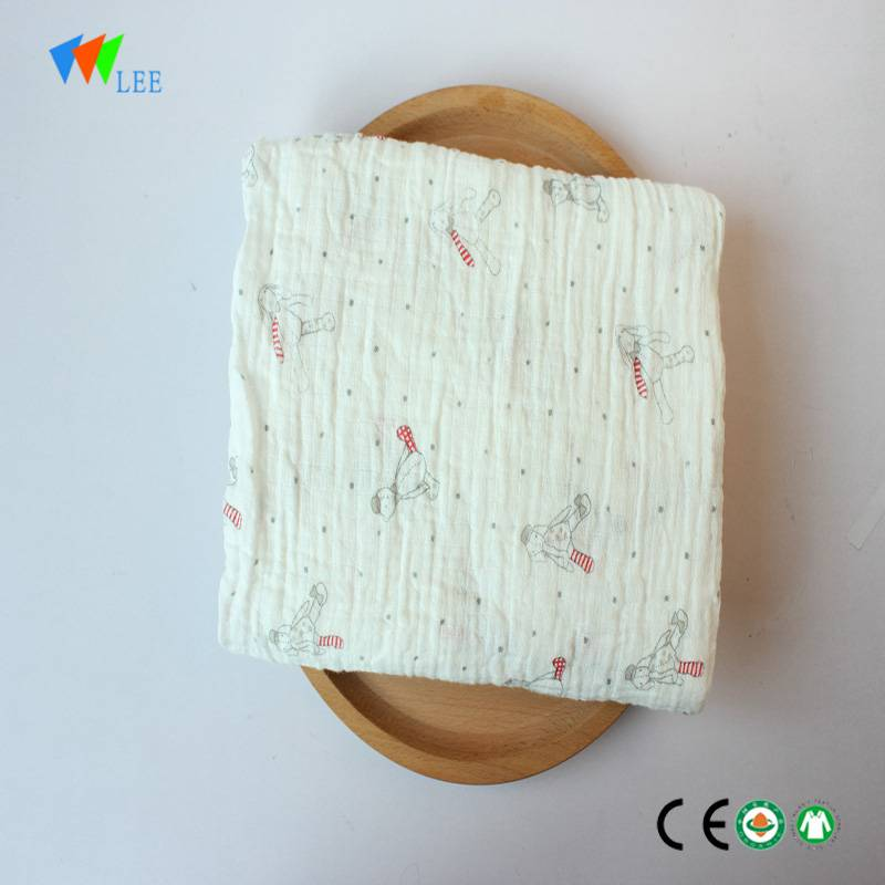 2017 new design and fashionable style wholesale high quality soft baby bamboo fiber blanket