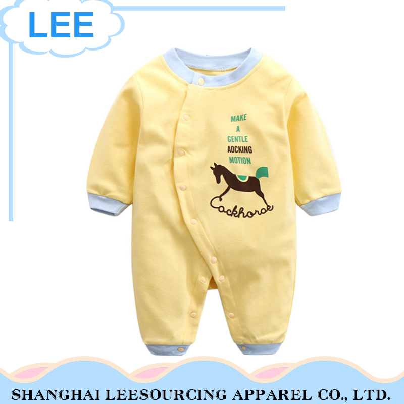 2017 Spring Romper Cartoon Animal Baby Cotton Suit