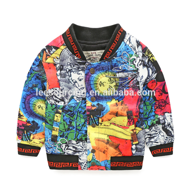 Wholesale nije design cool baby jas bern drage kleurrike jas baby jongens katoen clothing tops kids