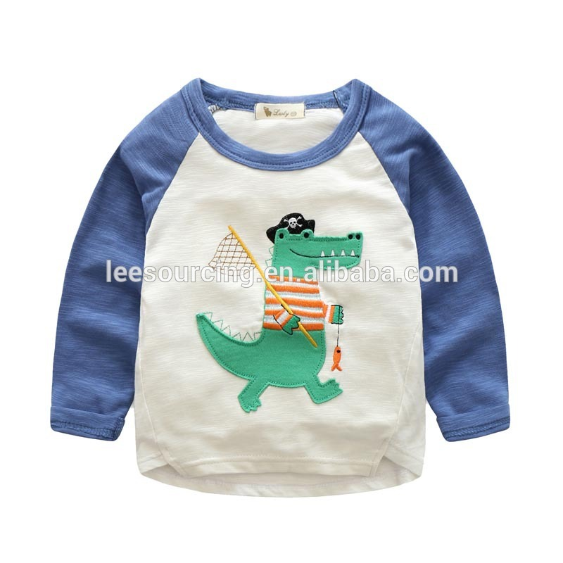 Börn T Shirt Krakkar Long Sleeve Cotton Tee Top Baby Raglan Tee Shirt Girl Raglan Sleeve Tee