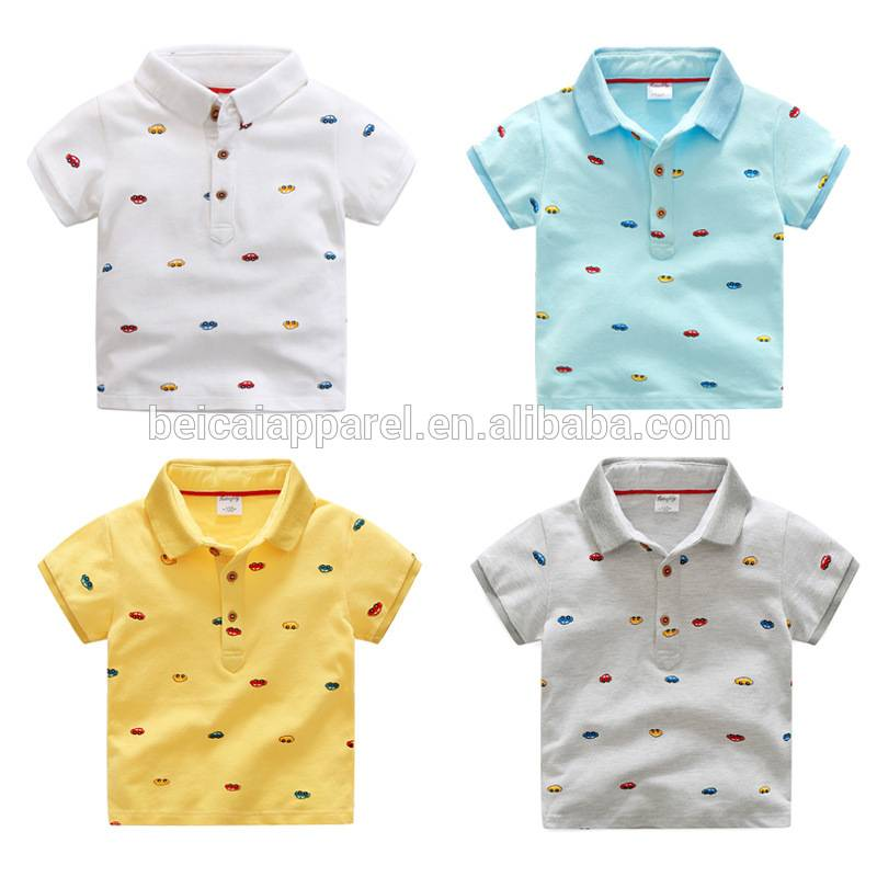 Wholesale price baby boy turn-down collar tshirt kids summer cool clothes t-shirts kids models