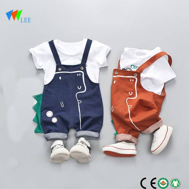 1-2T wholesale 100% cotton boutique baby girls clothing sets