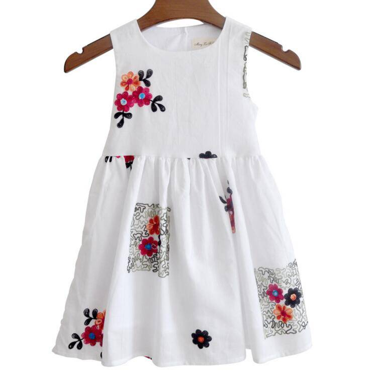 Latest Design Baby Clothing flower printing girl summer dress