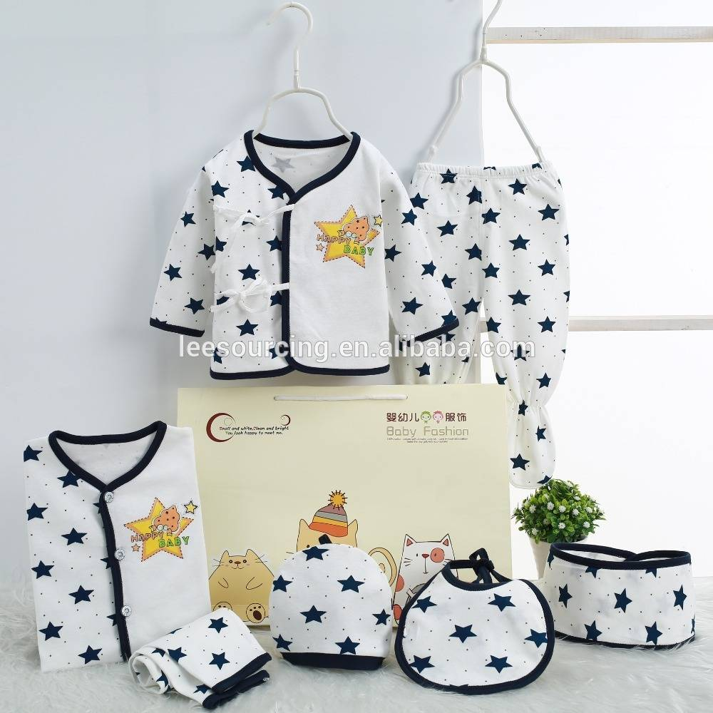 Newborn keep warm knitted cotton baby gift set clothes