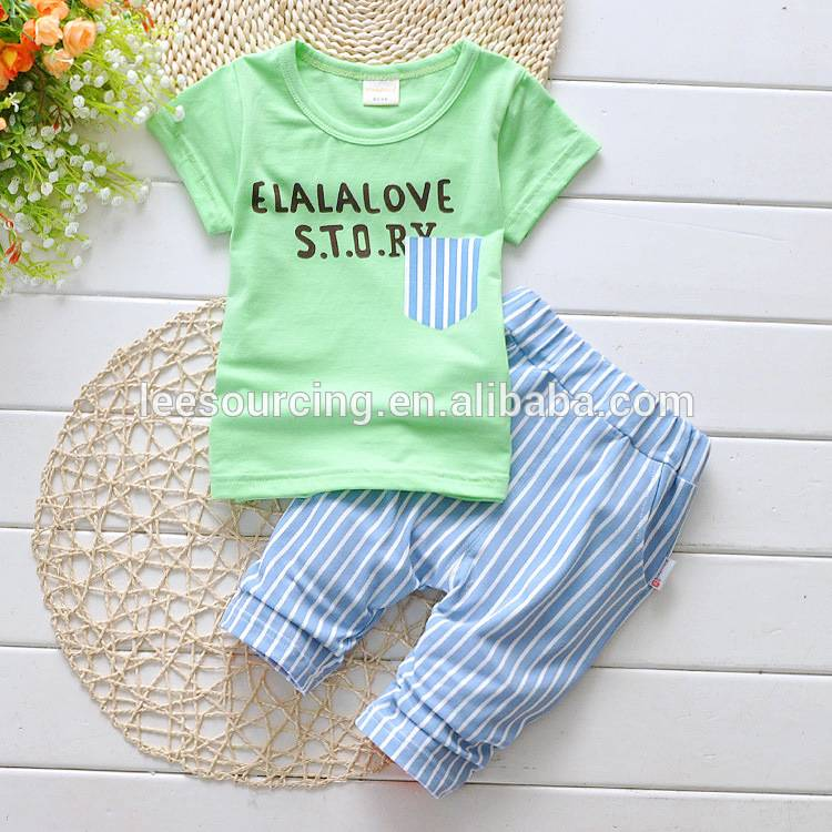 New style comfortable summer wholesale children clothes set