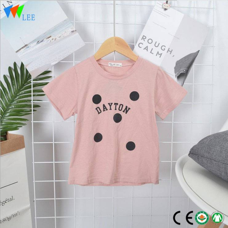 bébé mode Whosale fille douce conçoit BambooT-shirt