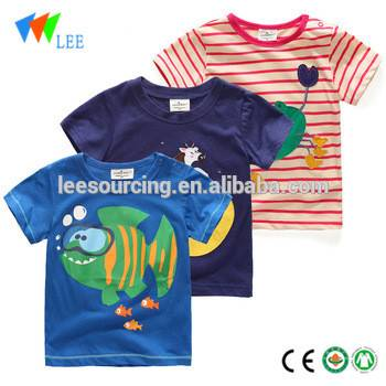 Factory making Kids Clothes Boys - Wholesale custom printing short sleeve baby boy tops – LeeSourcing
