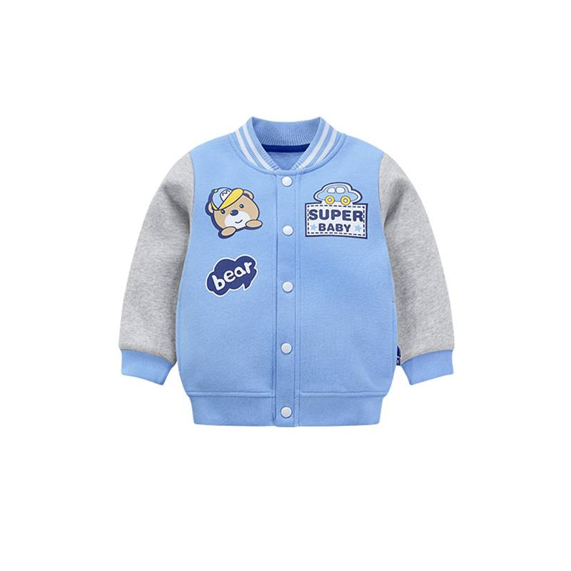 Niedriger Preis Herbst Mäntel Kundenspezifisches Logo Printing Boy Outfit Baby-Bomber-Jacke