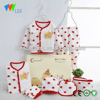 100% cotton newborn baby clothing gift set beautiful newborn baby clothes infant dot outfits