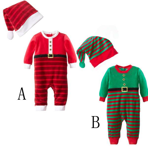 High quality Children Vintage Christmas Clothing new born baby cotton clothes set